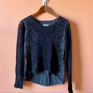 High Low Animal Print Sweater